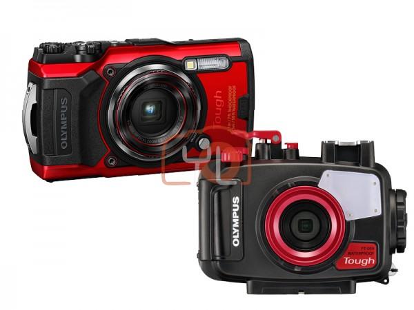 Olympus Tough TG-6 + PT-059 Underwater Housing (RED) [Free LEXAR 64GB SD Card]