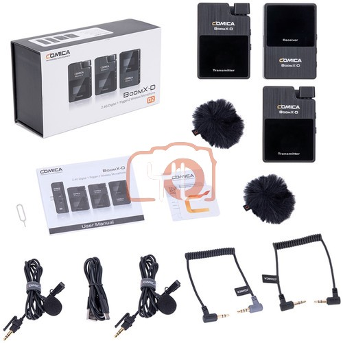 (PRE-ORDER) Comica Audio BoomX-D D2 Ultracompact 2-Person Digital Wireless Microphone System for Mirrorless/DSLR Cameras (2.4 GHz)