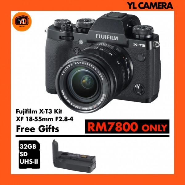 Fujifilm X-T3 + XF 18-55mm f/2.8-4R LM OIS W/ Vertical Battery Grip (Black)