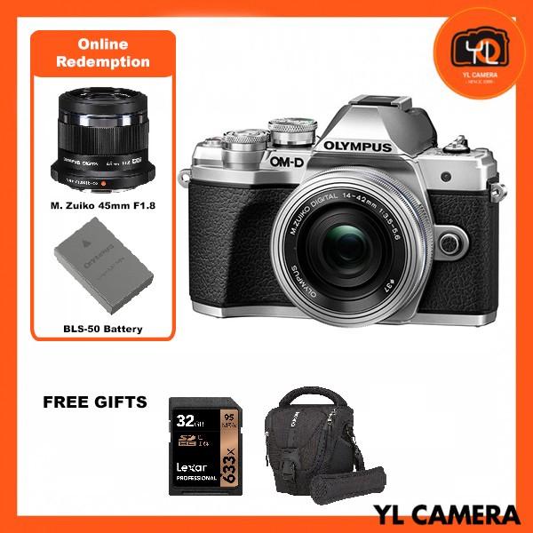 (Promotion) Olympus OM-D E-M10 Mark III + M.Zuiko 14-42mm EZ – Silver [Free Lexar 32GB 95MB SD Card + Benro ELZ10 Camera Bag] [Online Redemption 45mm F1.8 + Extra Battery]