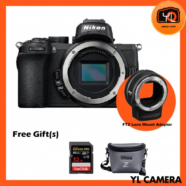 Nikon Z 50 Mirrorless Digital Camera W/ FTZ Mount Adapter (Free 32GB SD Card & Camera Bag)
