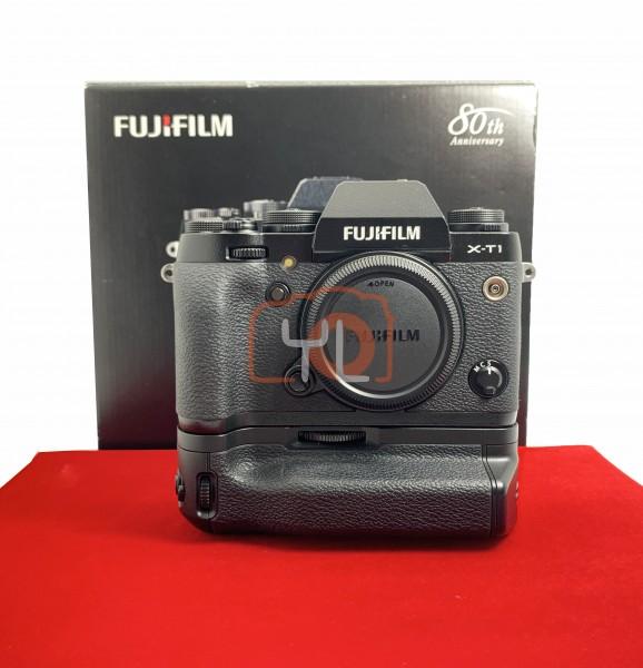 [USED-PJ33] Fujifilm X-T1 Body + VG-XT1 Battery Grip, 85% Like New Condition (S/N:41M07124)