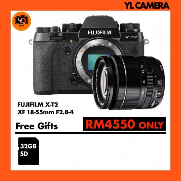 Fujifilm X-T2 + XF 18-55mm f/2.8-4R LM OIS [Free 32GB SD Card UHS-II]