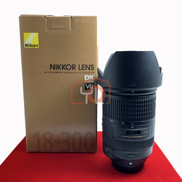 [USED-PJ33] Nikon 18-300mm F3.5-5.6 G VR AFS DX Lens, 80% Like New Condition (S/N:72010797)