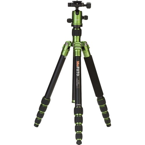 (SPECIAL DEAL) Mefoto A1350Q1 RoadTrip Aluminum Travel Tripod Kit (Green)