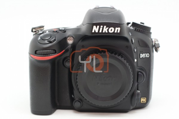 [USED-PUDU] NIKON D610 CAMERA BODY 90%LIKE NEW CONDITION SN:2012987