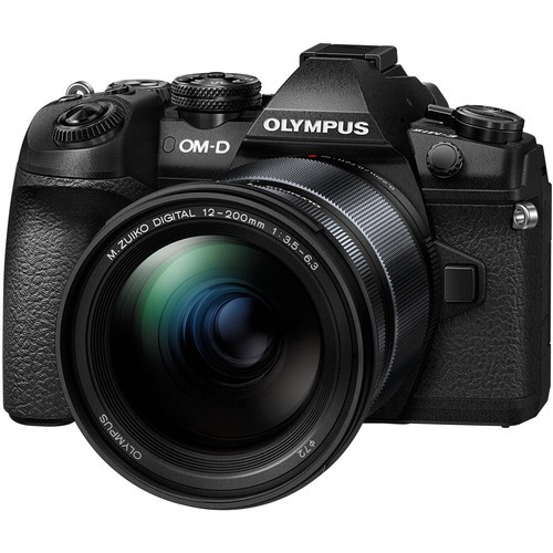 (MerdekaFLASH PROMO) Olympus OM-D E-M1 Mark II + M. Zuiko 12-200mm F3.5-6.3 (Black) [Free Extra Battery + Lexar 64GB SD Card 150MB]