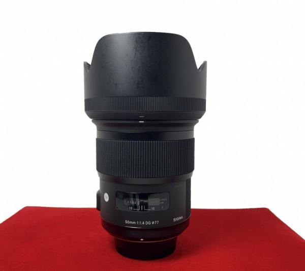 [USED-PJ33] Sigma 50MM F1.4 DG HSM ART Lens (Nikon), 95% Like New Condition (S/N:50950060)
