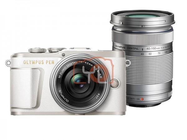Olympus E-PL9 Twin Lens Kit [14-42mm + 40-150mm] (White)  [Free Lexar 32GB 95MB SD Card]