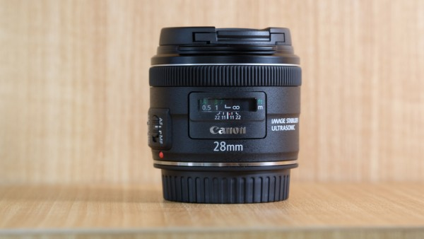 (USED YL LOW YAT)-Canon EF 28mm F2.8 IS USM Lens,99% Condition Like New,S/N:9210000691