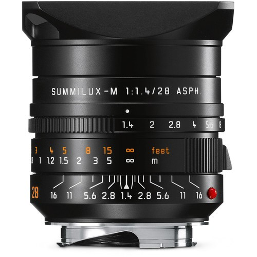 Leica 28mm F1.4 Summilux-M ASPH. - Black (11668)