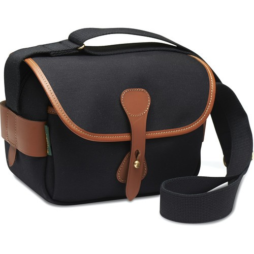 Billingham S2 Shoulder Bag (Black Canvas/Tan Leather)