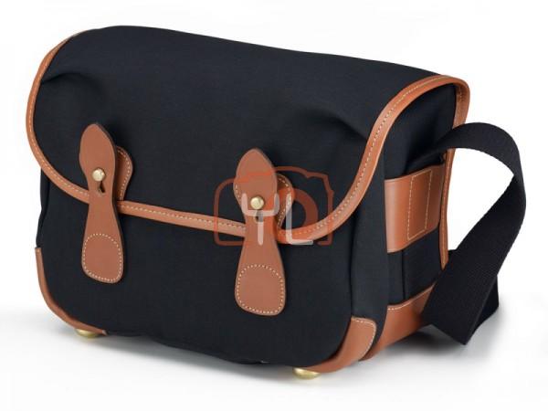 Billingham L2 Camera Shoulder Bag (Black Canvas / Tan Leather)