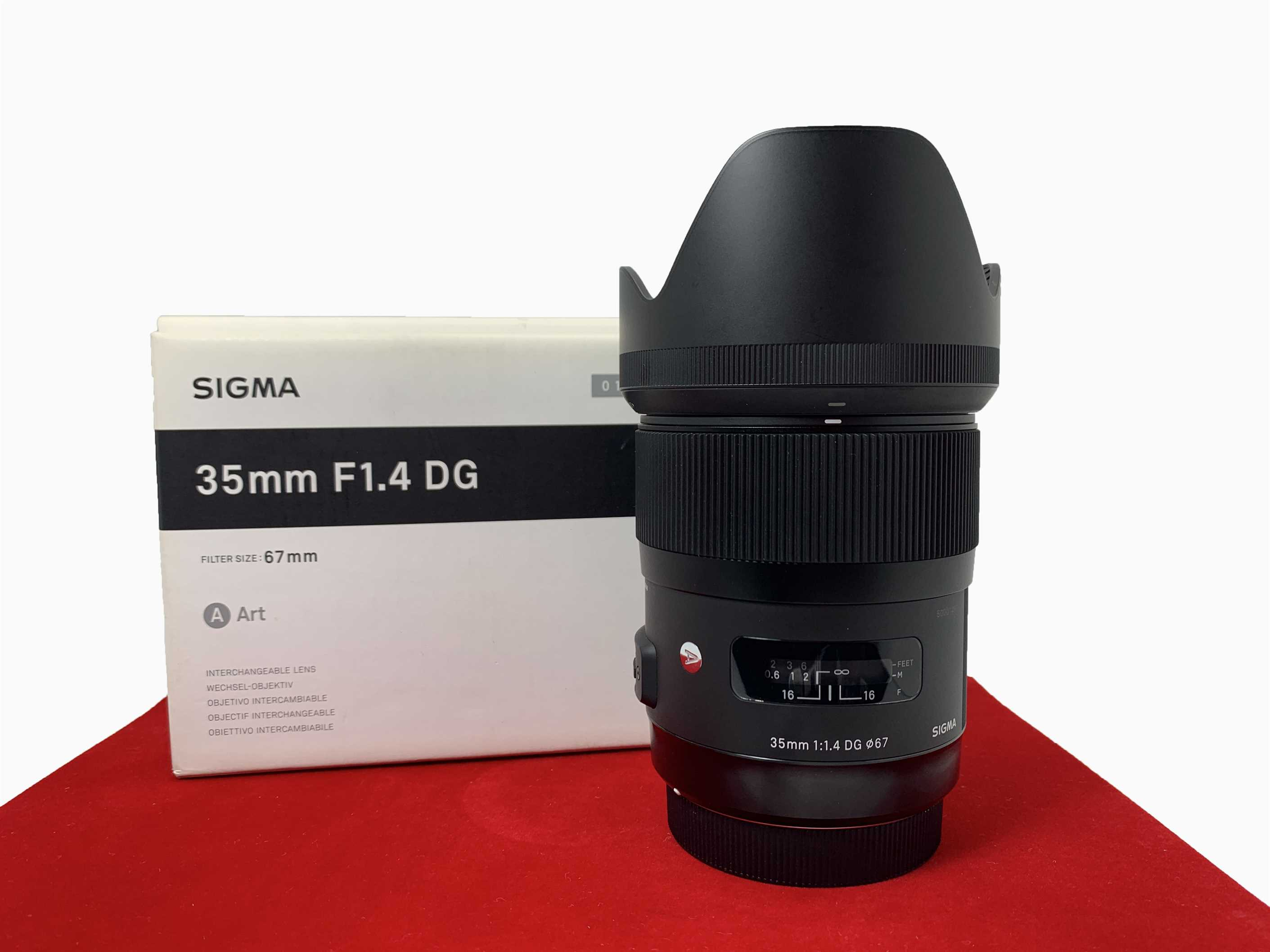 [USED-PJ33] SIGMA 35MM F1.4 DG ART LENS For Canon, 95% Like New Condition (S/N:50001487)