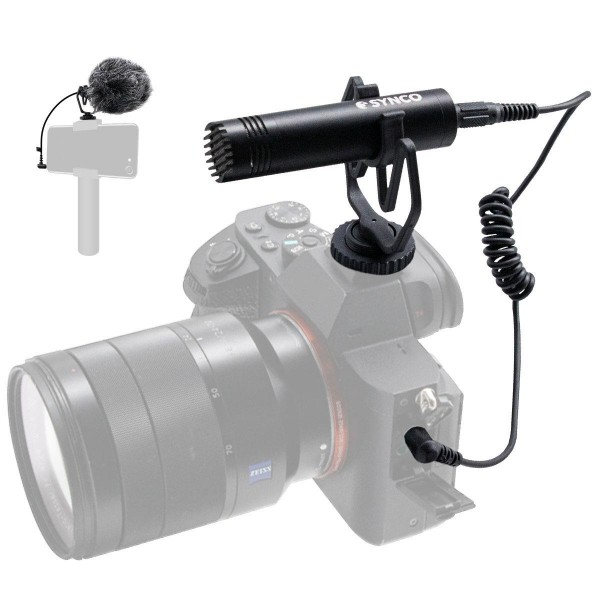 Synco Audio Mic-M1 On-Camera Shotgun Microphone with Shock Mount