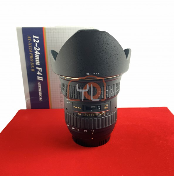 [USED-PJ33] Tokina 12-24mm F4 AT-X Pro DX II (Nikon), 95% Like New Condition (S/N:8350586)