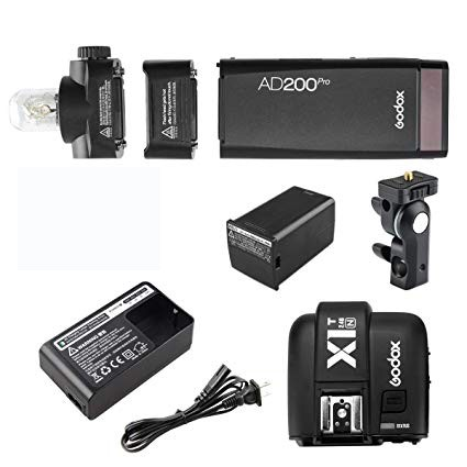 Godox AD200Pro TTL Pocket Flash Kit X1T-N Nikon Combo Set
