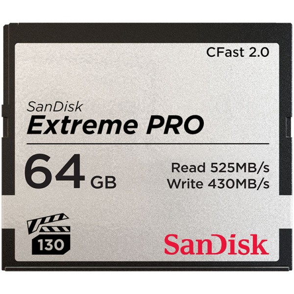 SanDisk 64GB Extreme PRO CFast Card (525MB/s)