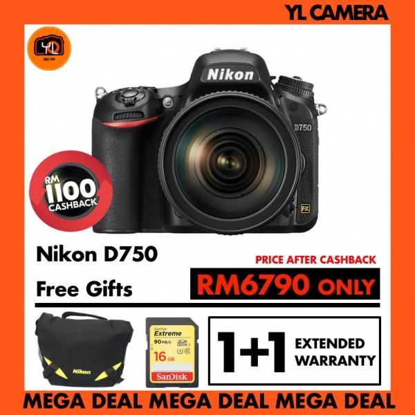 (MEGA DEAL) Nikon D750 + 24-120mm f/4 AF-S ED VR Lens