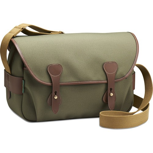 Billingham S4 Shoulder Bag (Sage FibreNyte/Chocolate Leather)