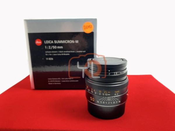 [DEMO UNIT-PJ33] Leica 50mm F2 Summicron-M (Black) 11826, 95% Like New Condition (S/N:4614477)