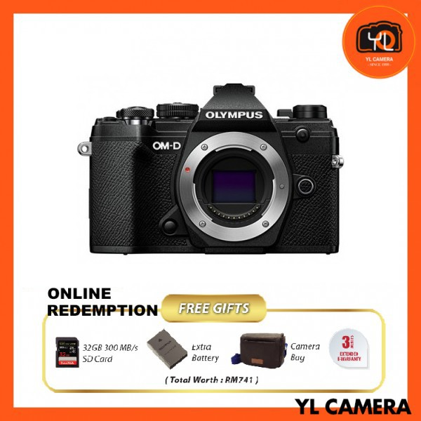 Olympus OM-D E-M5 Mark III - Black [Online Redemption Extra Battery + 32GB SD Card UHS-II + Olympus Bag]