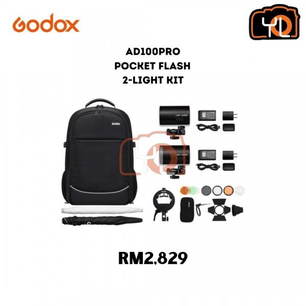 Godox AD100pro Pocket Flash 2-Light Kit