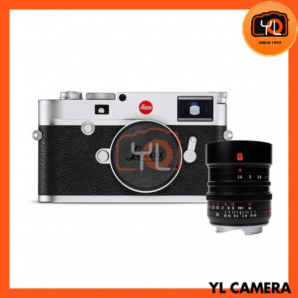 Leica M10 Digital Rangefinder Camera - Silver (20001) + 7artisans M 35mm F1.4