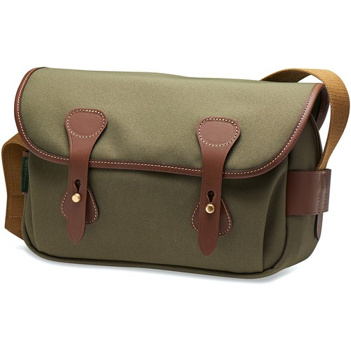 Billingham S3 Shoulder Bag (Sage FibreNyte/Chocolate Leather)