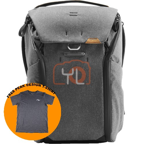 Peak Design Everyday Backpack 20L_Charcoal V2 (Free Peak Design T-Shirt)
