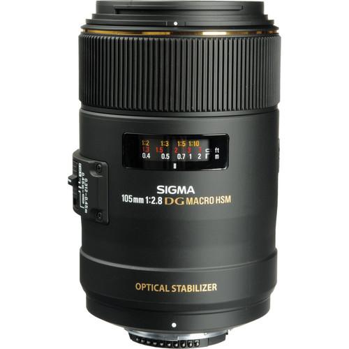 Sigma 105mm f/2.8 EX DG OS HSM Macro Lens (Canon)