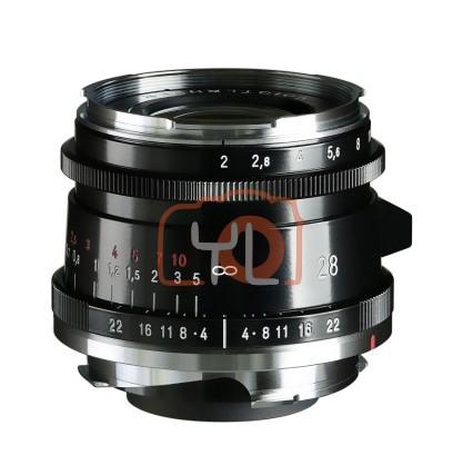 Voigtlander 28mm F2 Ultron Vintage Aspherical VM Lens Type II - Black (For Leica M-Mount)