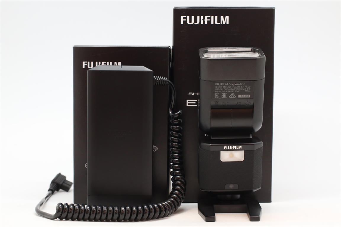 [USED-PUDU] FUJIFILM EF-500 FLASH WITH EF-BP1 BATTERY PACK 99%LIKE NEW CONDITION SN:113498/101599