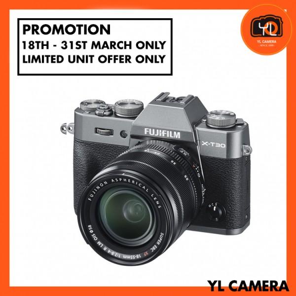 (Promotion) Fujifilm X-T30 (Charcoal/Silver) + XF 18-55mm f/2.8-4R LM OIS [Free 32GB SD Card]