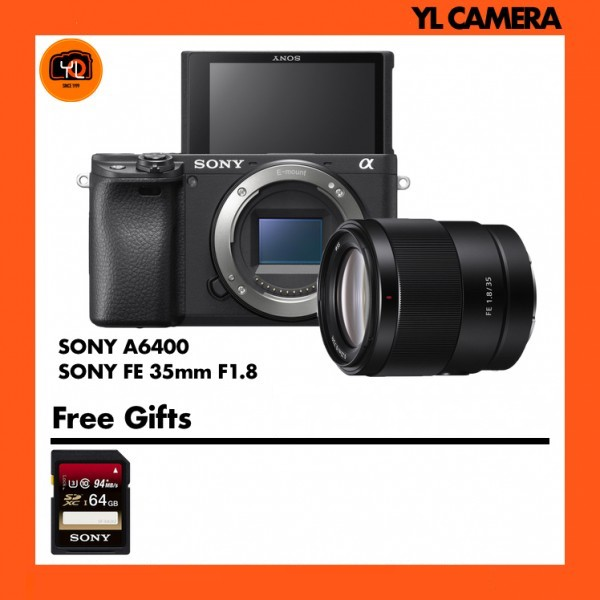 Sony A6400 Body W/ FE 35mm F1.8