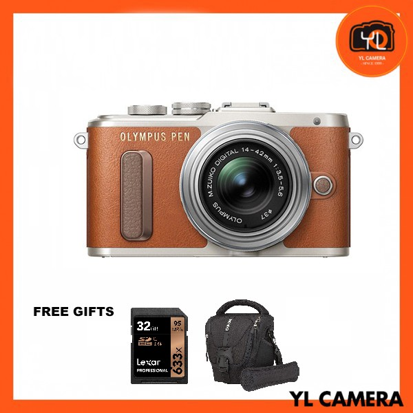 (Promotion) Olympus E-PL8 + M.Zuiko 14-42mm EZ (Brown) [Free Lexar 32GB 95MB SD Card + Benro ELZ10 Camera Bag]