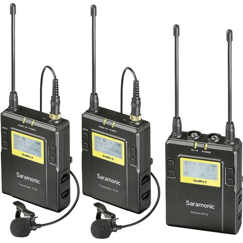 Saramonic RX9+TX9TX9 2-Person Camera-Mount Wireless Omni Lavalier Microphone System