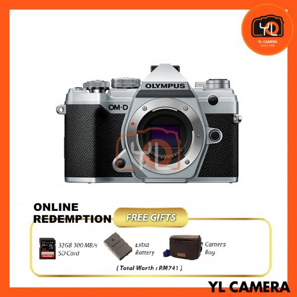 Olympus OM-D E-M5 Mark III - Silver [Online Redemption Extra Battery + 32GB SD Card UHS-II + Olympus Bag]