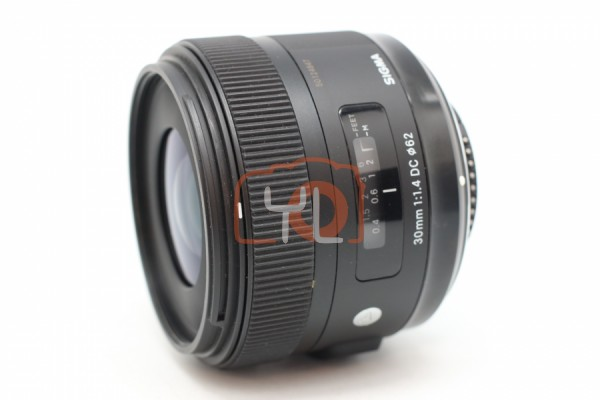 [USED-PUDU] Sigma 30mm F1.4 DC HSM Art Lens (NIKON) 95%LIKE NEW CONDITION SN:50124847