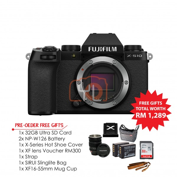 Fujifilm X-S10 - Body (Pre-Order Free Gift Worth RM1289)