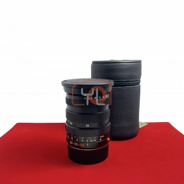 [USED-PJ33]  Leica 28-35-50MM F4 TRI-ELMAR-M ASPH (E55) , 90% Like New Condition (S/N:3813103)