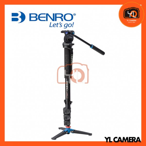 Benro A38FDS4 Series 3 Aluminum Monopod with 3-Leg Locking Base and S4 Video Head