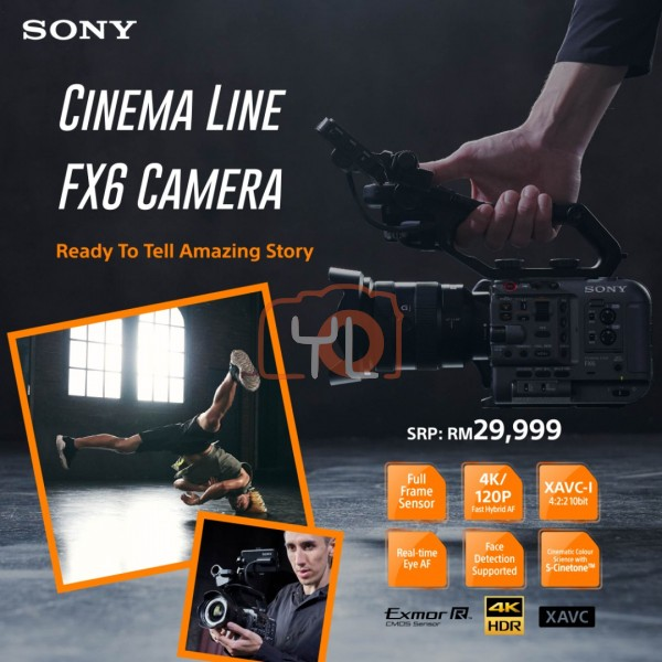 Sony FX6 Full-Frame Cinema Camera (Body)