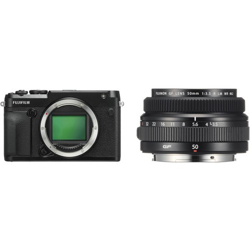 Fujifilm GFX 50R Medium Format Mirrorless Camera + GF 50mm F3.5 R LM WR [Free 32GB SD Card UHS-II]