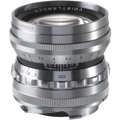 Voigtlander 50mm F1.5 Nokton Aspherical Lens - Chrome (For Leica M-Mount)