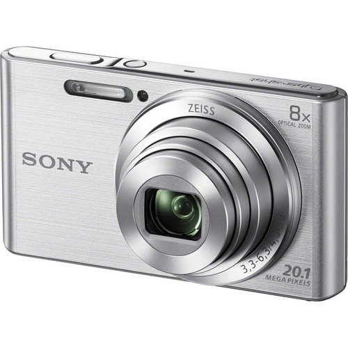 Sony DSC-W830 Digital Camera - Silver [Free 16GB SD Card + Camera Case]