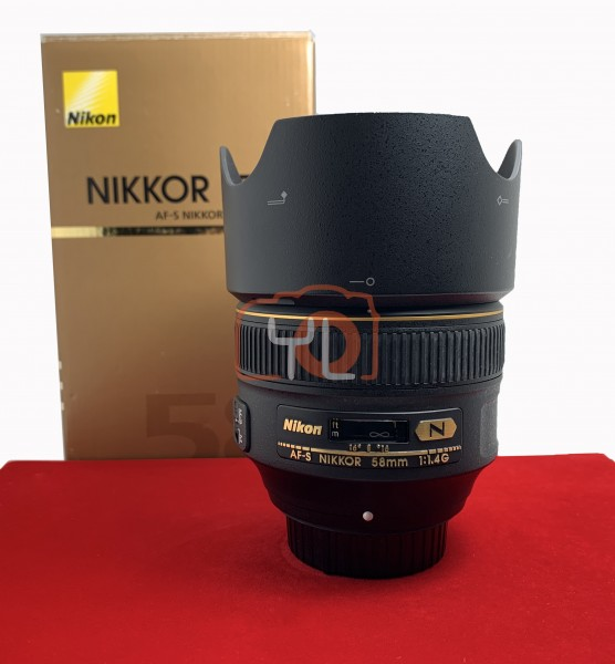[USED-PJ33] Nikon 58mm F1.4 G AFS, 95% Like New Condition (S/N:206202)