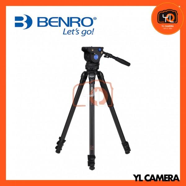 Benro C373FBV4H Series 3 Carbon Fiber Video Tripod and 75mm BV4 Head Kit