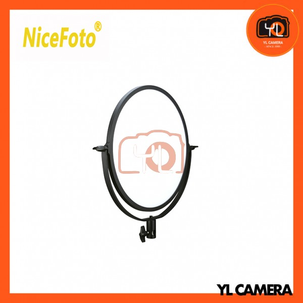 NiceFoto SL-272A Ultra Soft Bi-color Super Diffusing Light Round LED panel light with Dual Charging