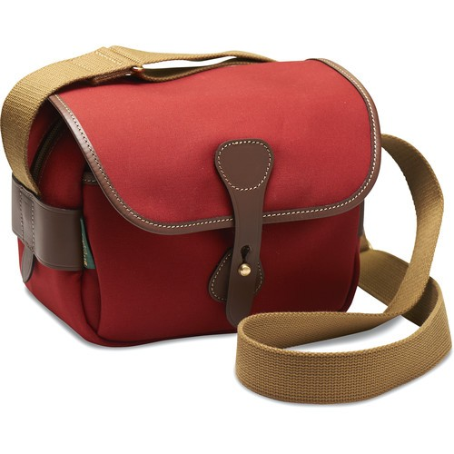 Billingham S2 Shoulder Bag (Burgundy Canvas/Chocolate Leather)